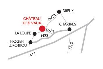 Accès- Château des Vaux